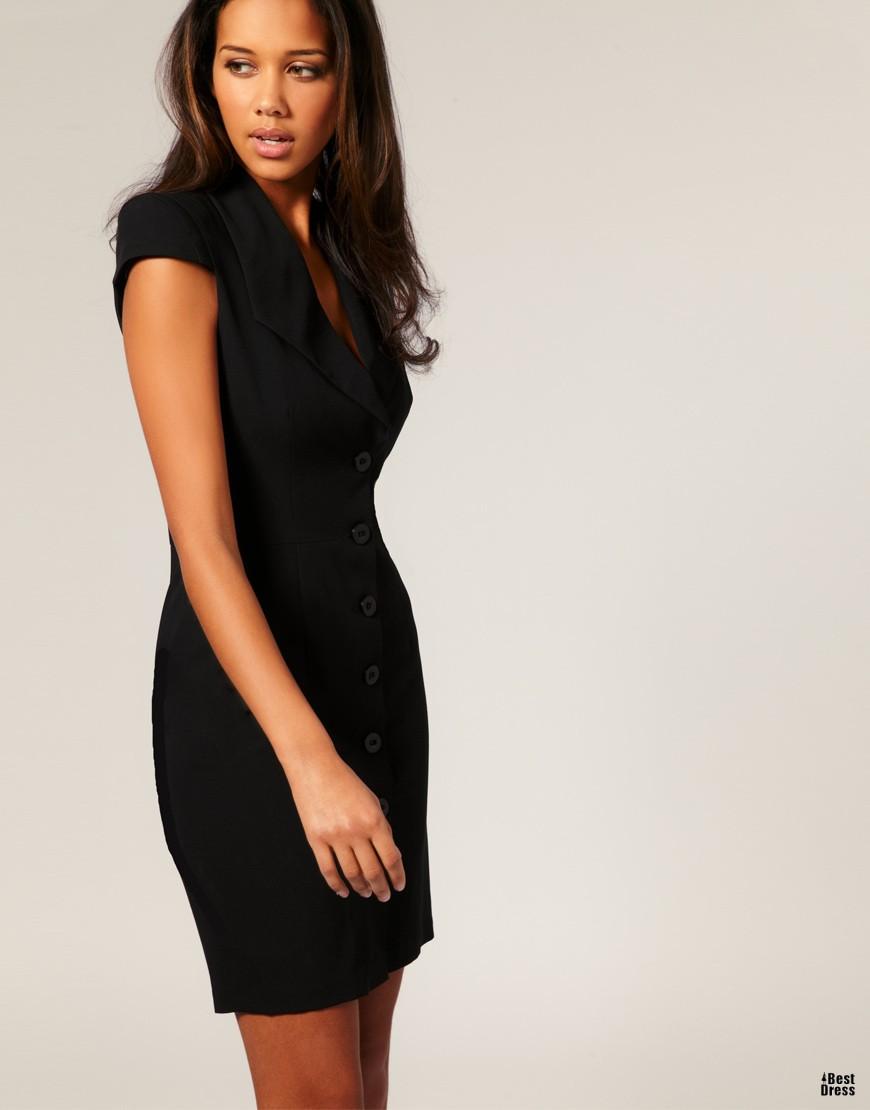 Строгие платья подразумевают под собой отсутствие глубоких декольте и откровенных вырезов на спине и разрезов. Короткие модели должны доходить до колена